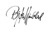 Signature of Bjorn Wiinblad