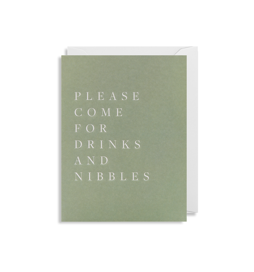Please Come for Drinks - Minicard