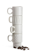 Load image into Gallery viewer, Coffee and More Espresso Mug 4 Pack - White