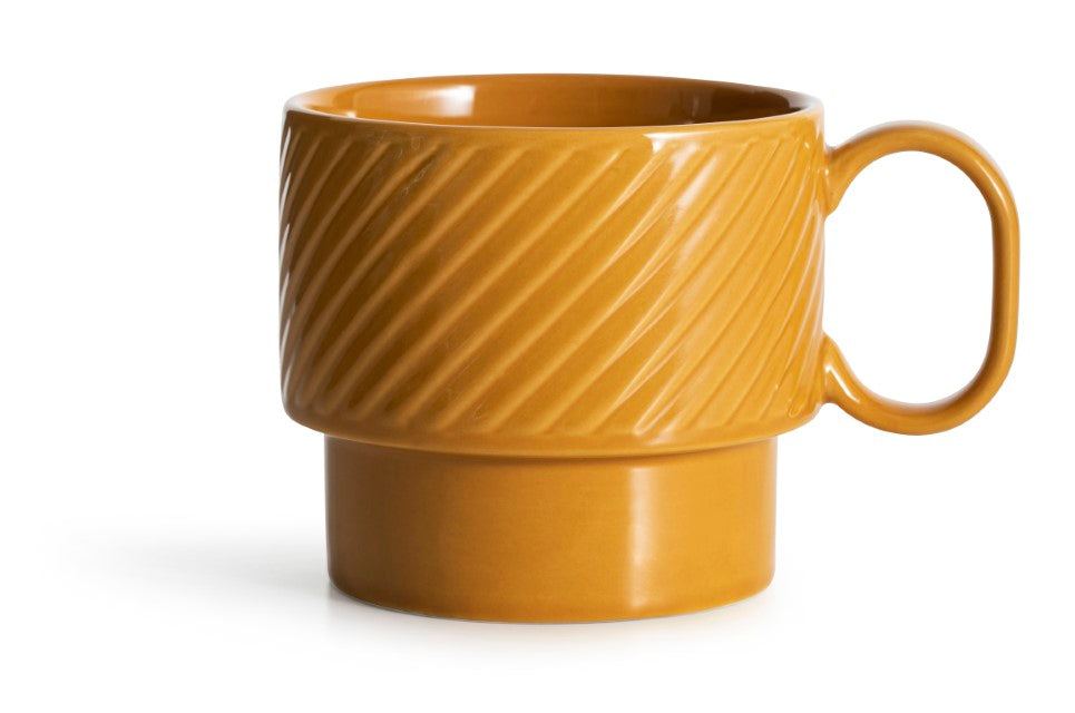 Coffee and More Tea Mug - Mustard