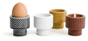 Coffee and More Tealight/Egg Cup - White