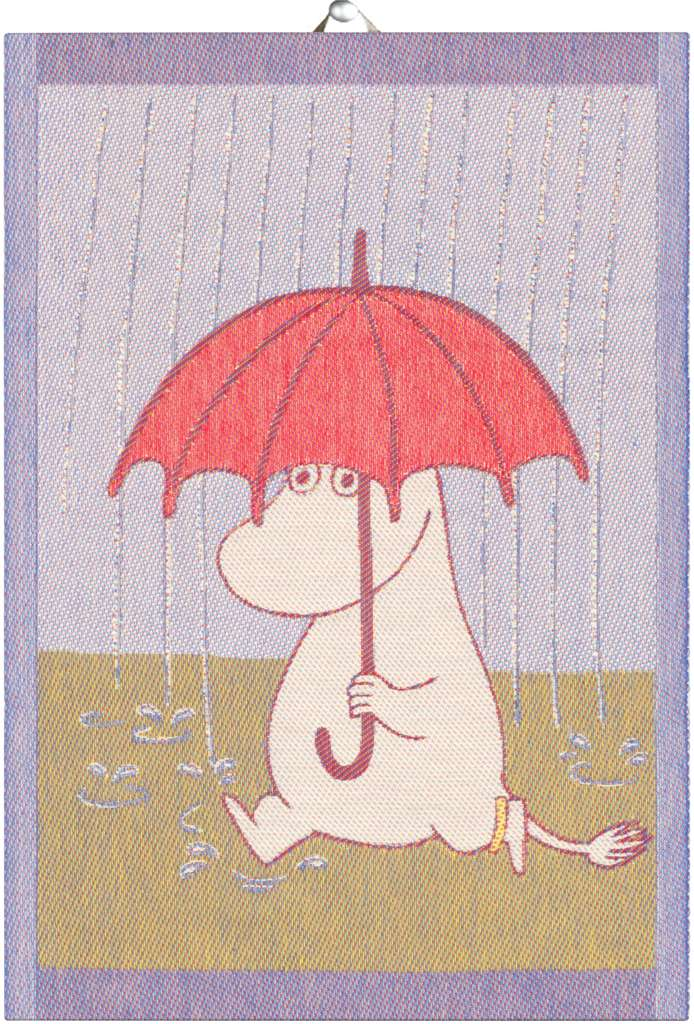 Moomin Tea Towel - Rain