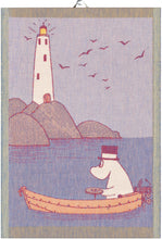 Load image into Gallery viewer, Moomin Row the Boat Tea Towel