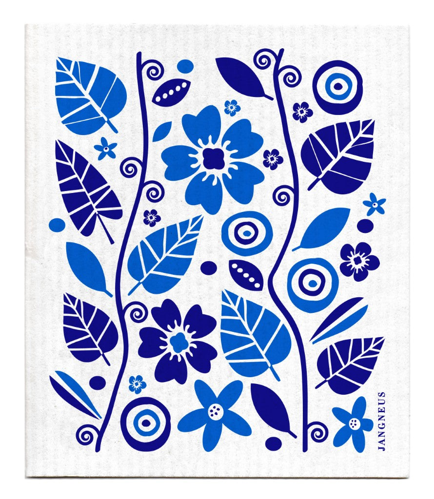 Garden Dishcloth - Blue