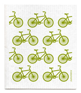 Bikes Dishcloth - Green