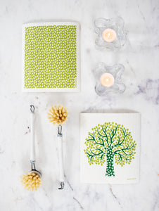 Tree Dishcloth  - Green