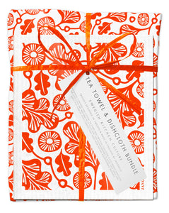 Oak Bundle Orange (1 Teatowel 3 Dishcloths)
