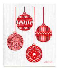 Load image into Gallery viewer, Red Baubles Dishcloth