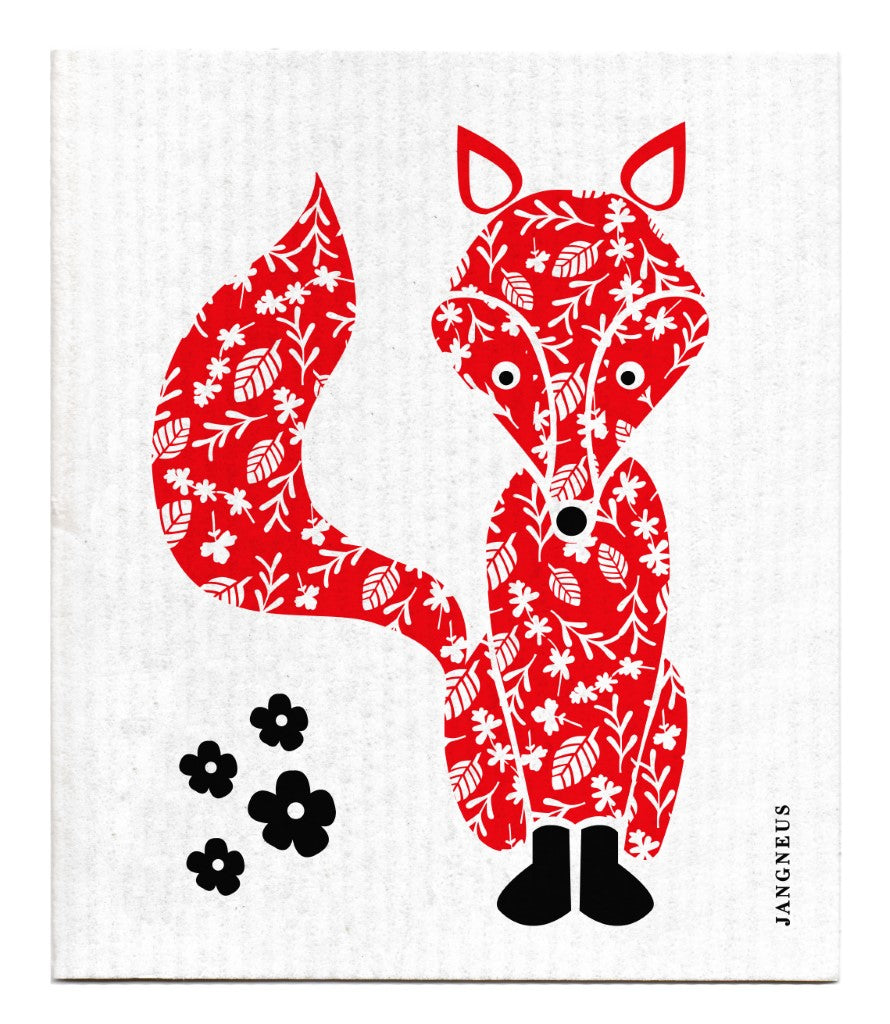 Fox Dishcloth - Red
