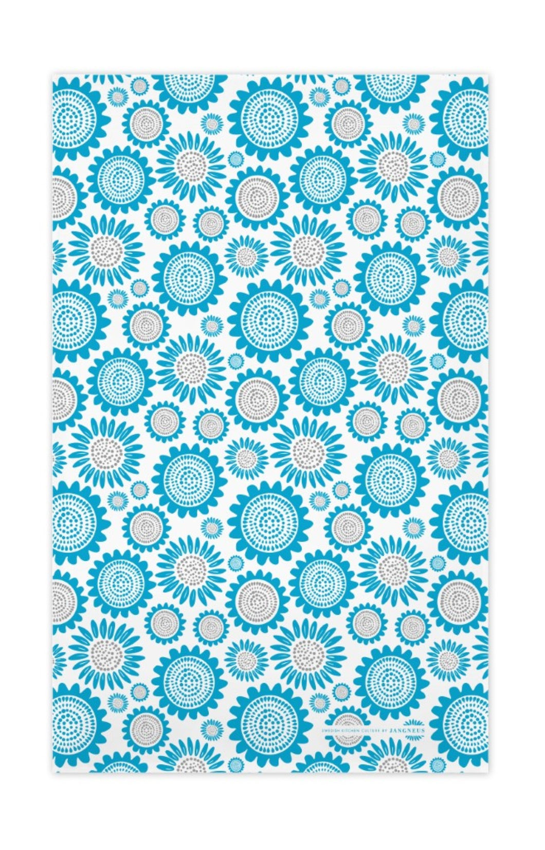 Sunflower Tea Towel - Turquoise