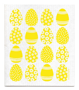 Easter Eggs Dishcloth - Yellow