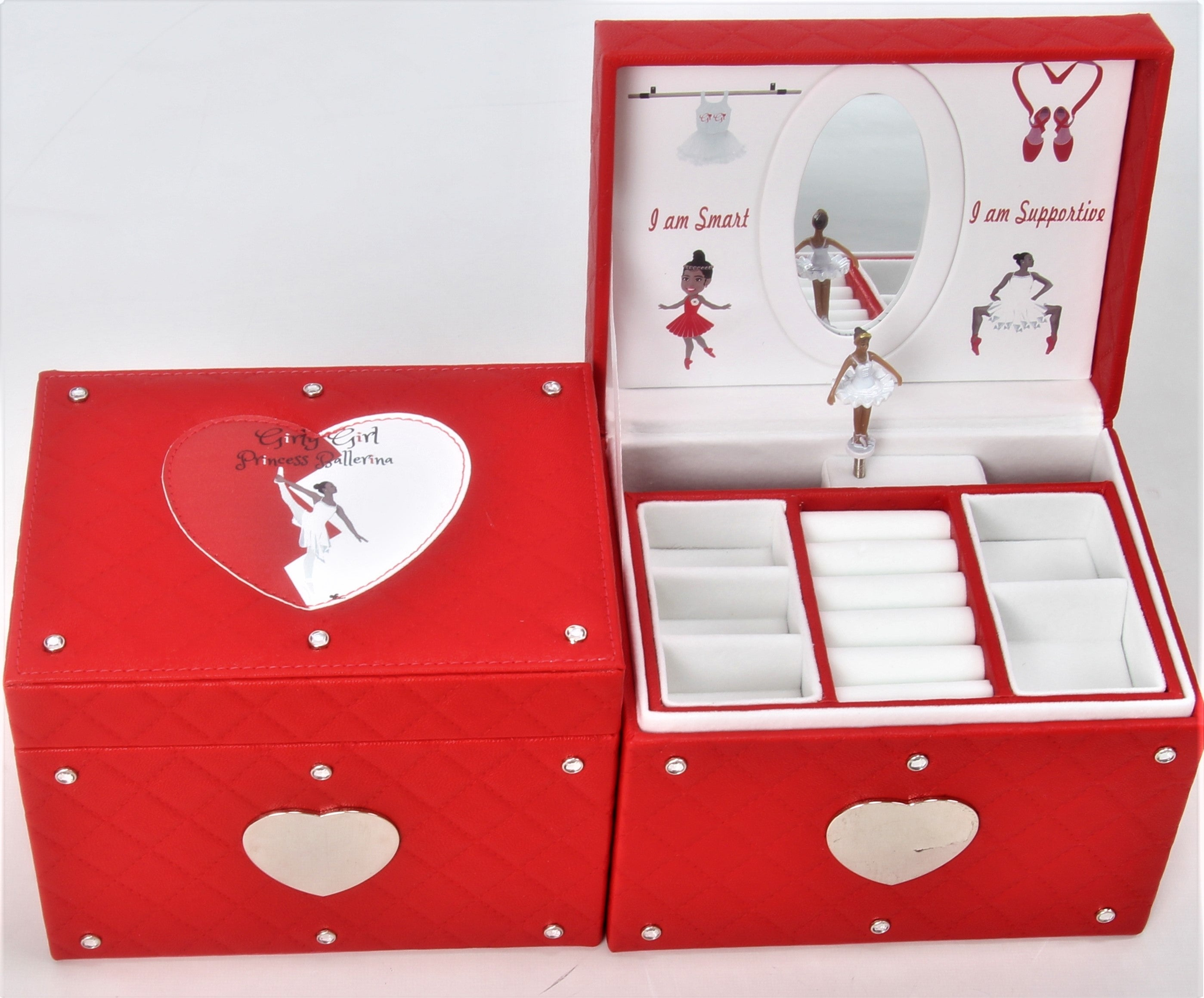 African American Ballerina Musical Jewelry Box