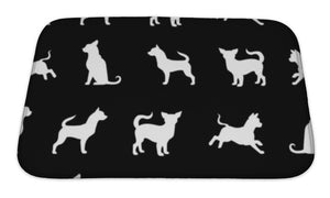 Bath Mat, Chihuahua Small Dog Pattern