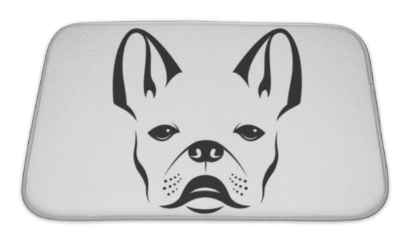 Bath Mat, Image Of An Dog Bulldog On White