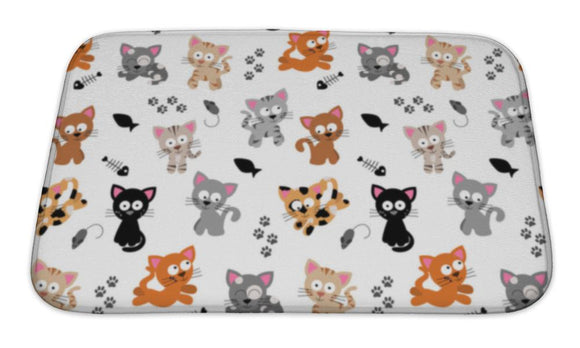 Bath Mat, Cute Cat Themed