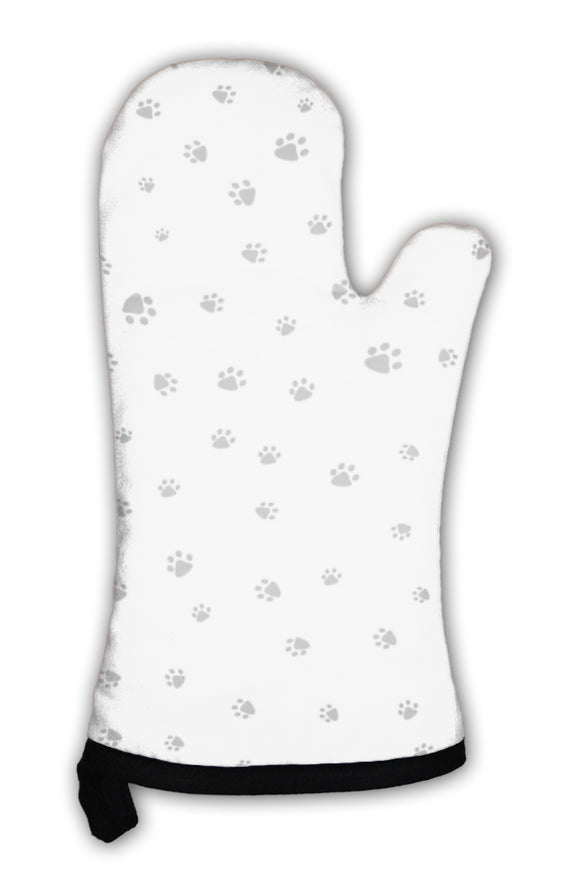 Oven Mitt, Footprint Of Cat And Dog