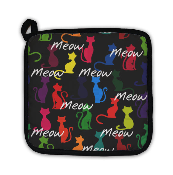 Potholder, With Colorful Cats