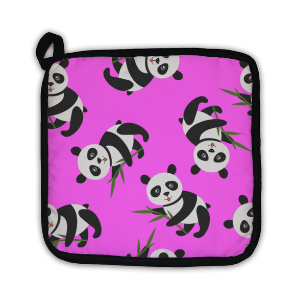 Potholder, Cute Panda With Bamboo