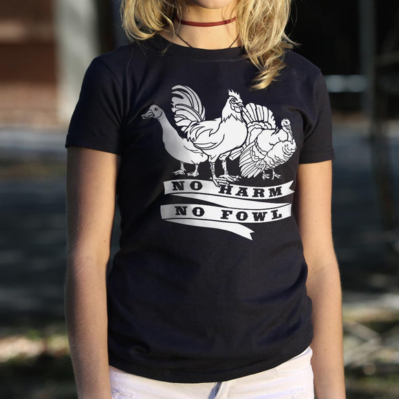 No Harm No Fowl T-Shirt (Ladies)