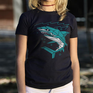 Polygon Shark T-Shirt (Ladies)
