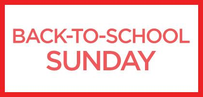 Back-to-School Sunday 2017