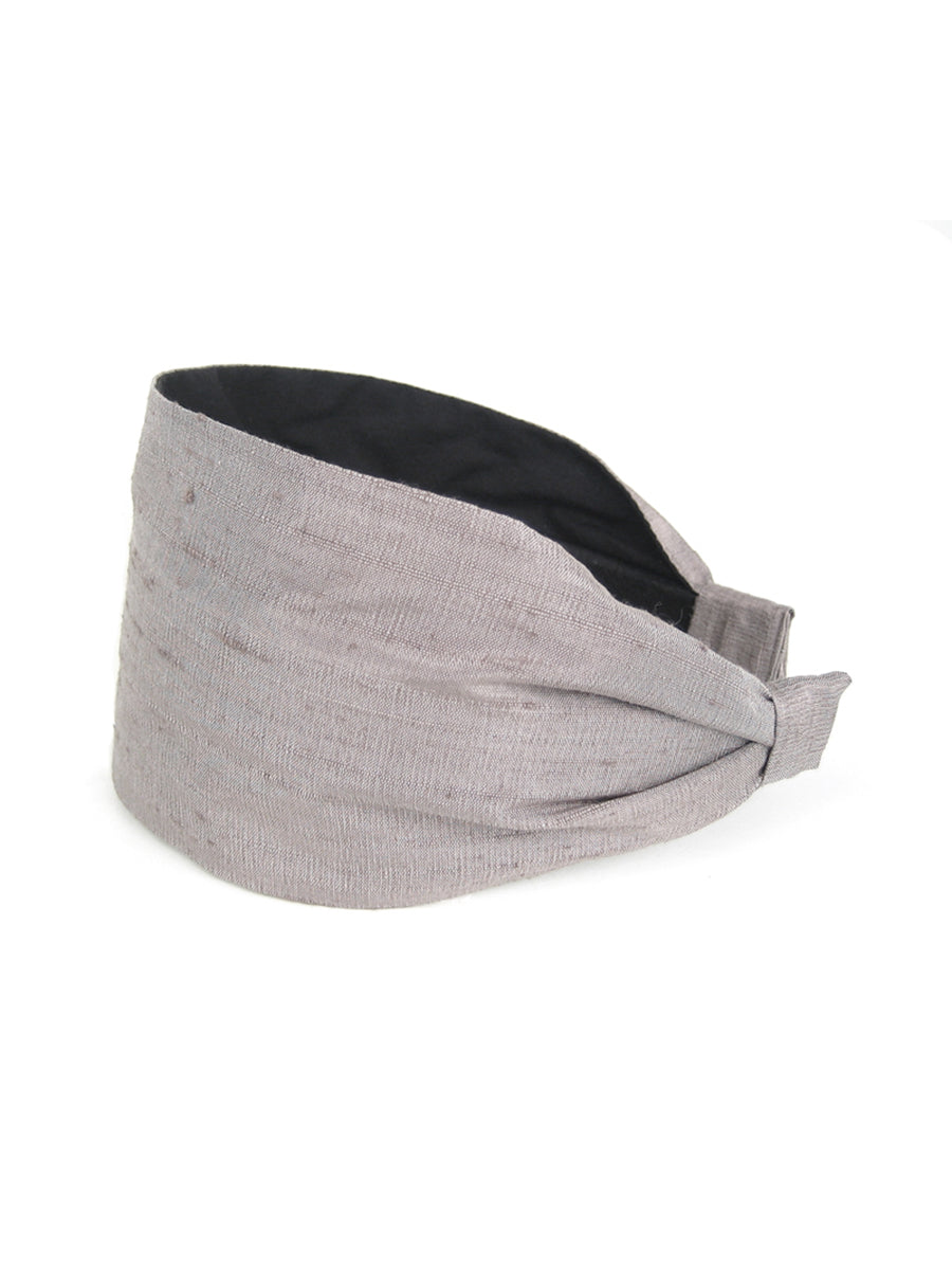 Aya Headband, Dupioni Silk Solids
