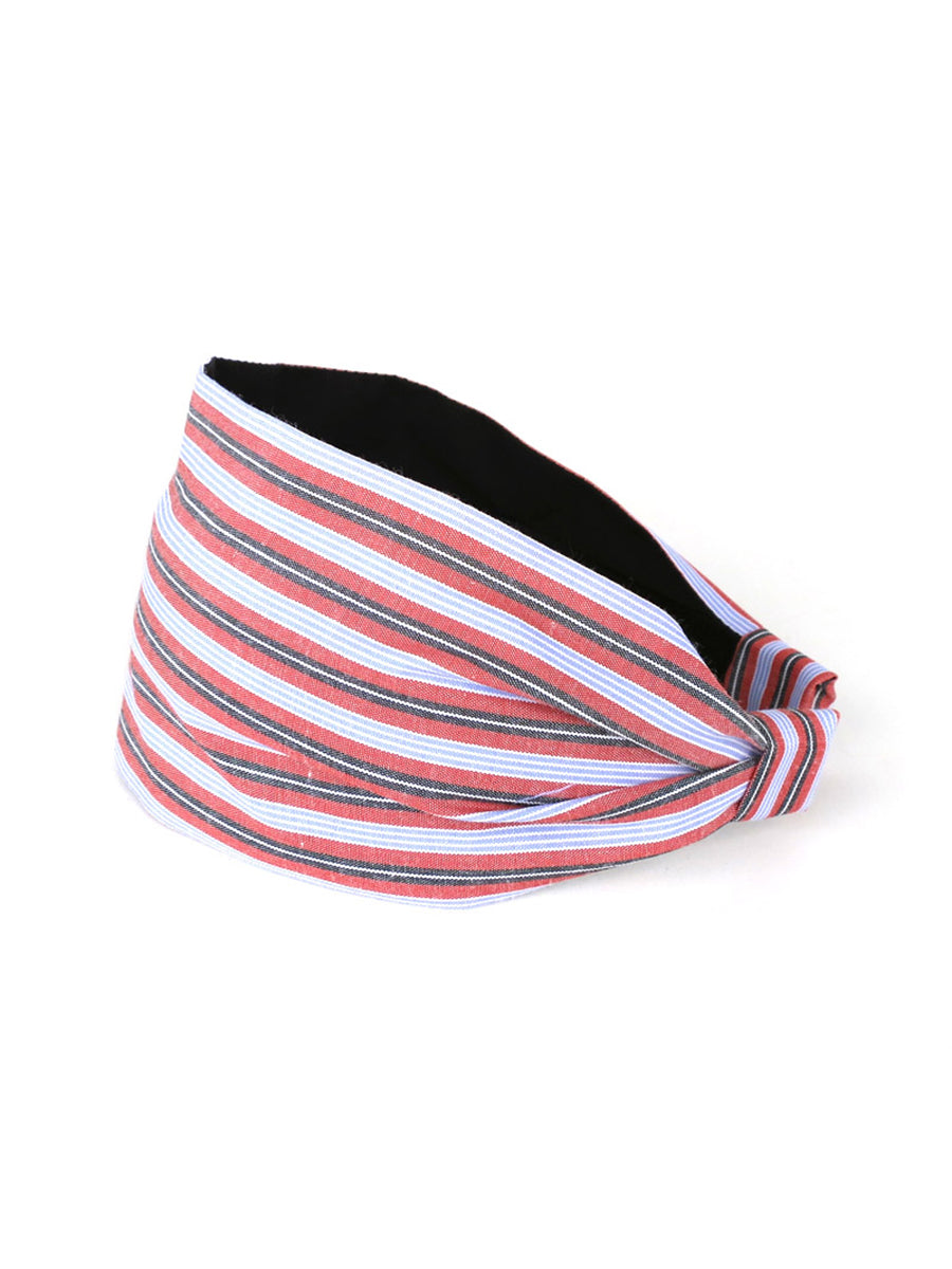 Aya Headband, Cotton Stripes and Checks