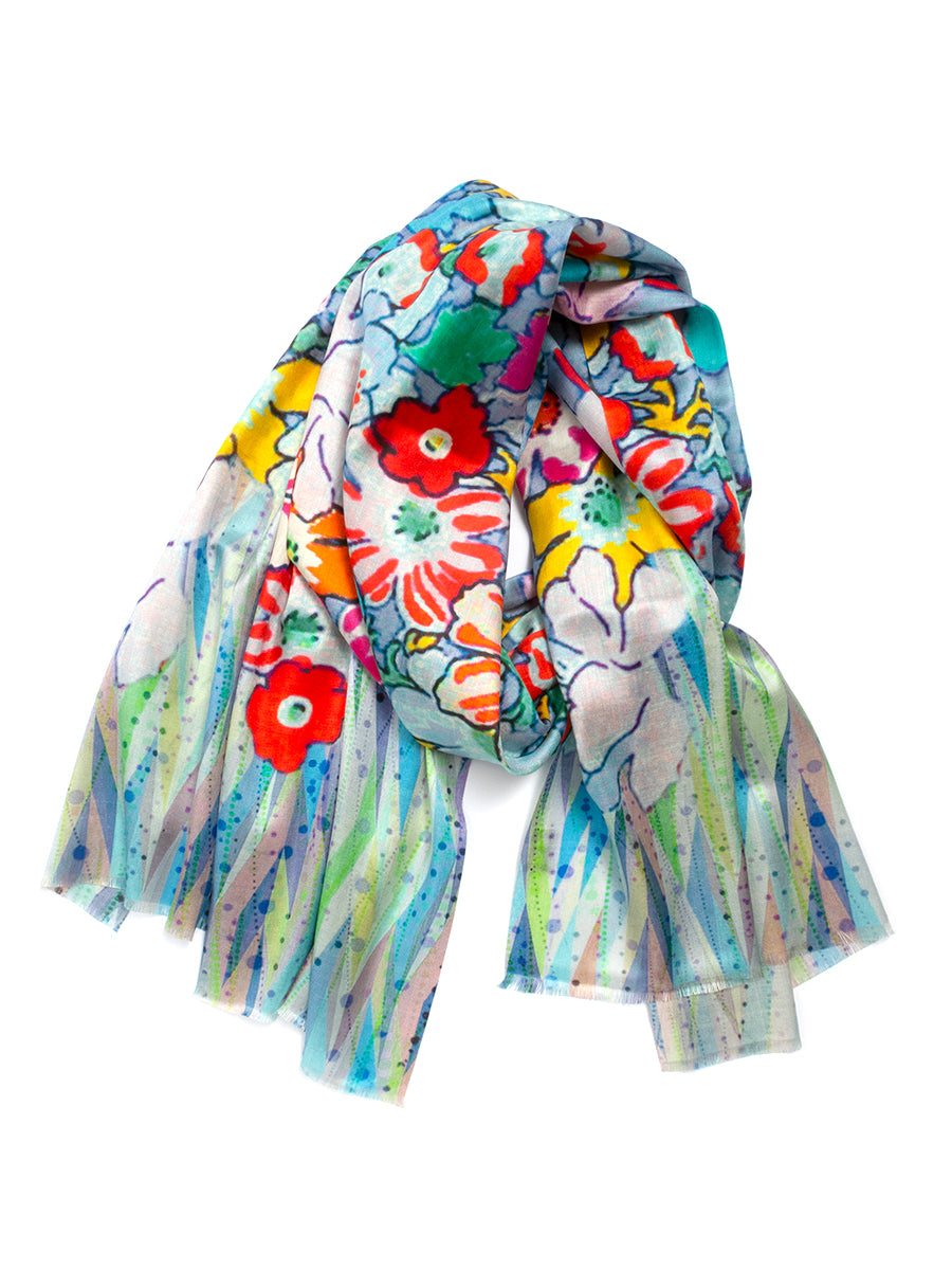 Digital Print SILK Scarf No. 1