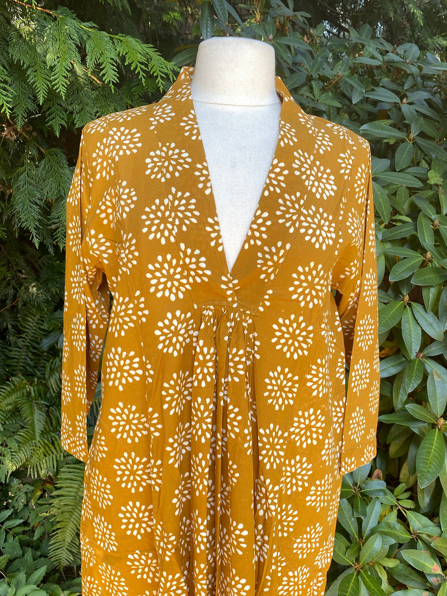 Pooja Dress, Gold Marigold