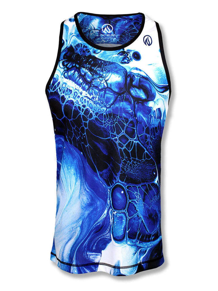 Mens Blue Ink Singlet
