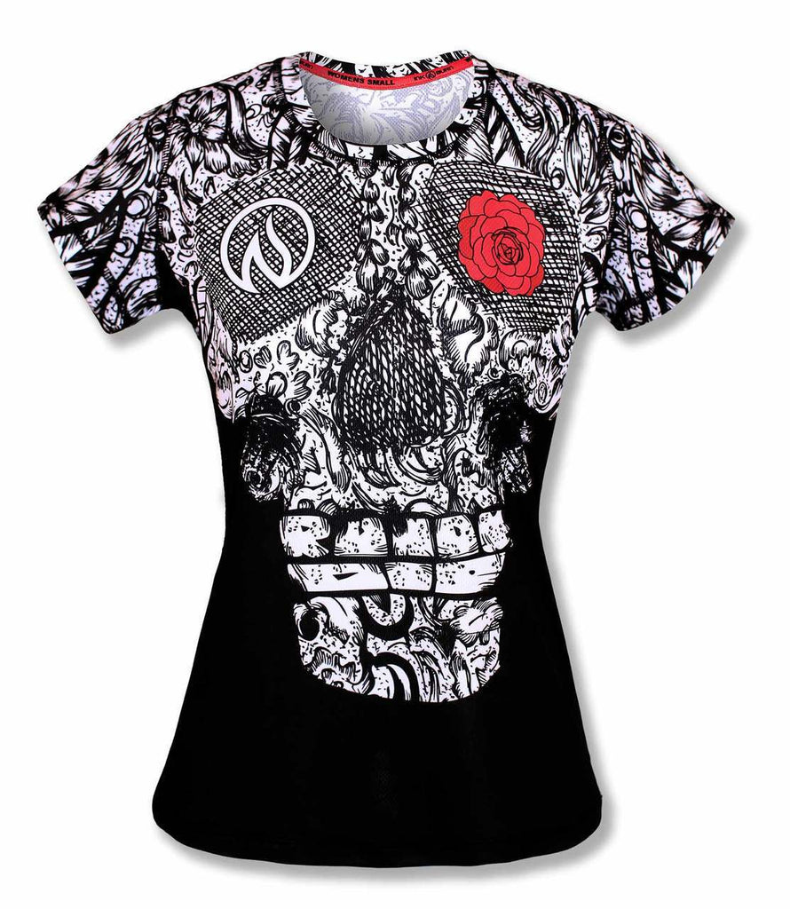 Skull en Rose Techshirt