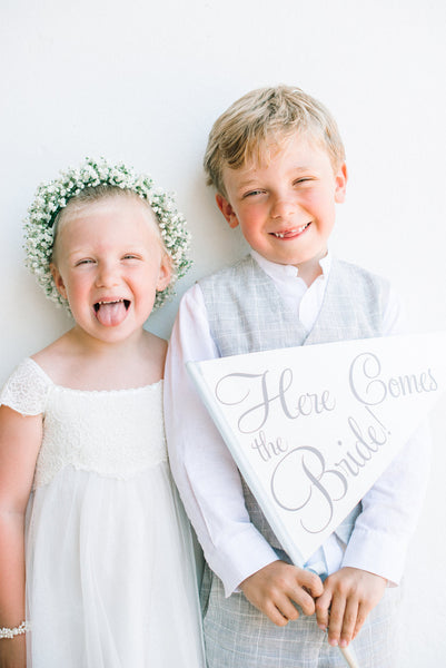 Here Comes the Bride | Weddings Signs for Ring Bearers and Flower Girls