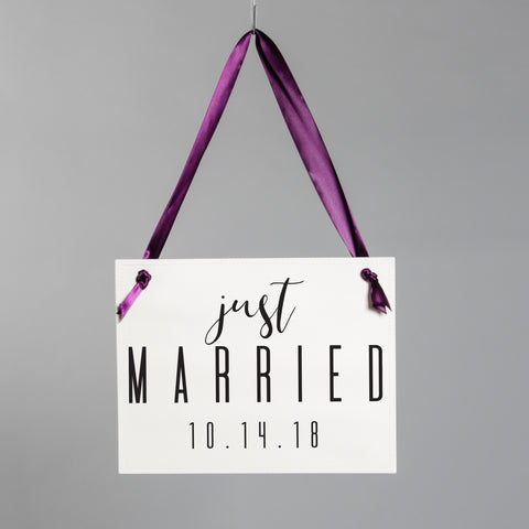 Just Married Personalized Sign