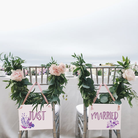 Just Married Boho Signs