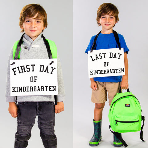 First last day of kindergarten