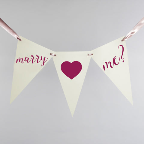 Marry Me Bunting