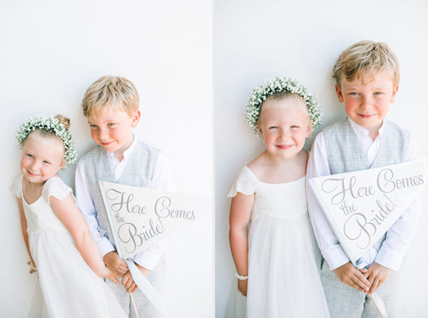 Spanish Flower Girl Ring Bearer Ritzy Rose Sign Photo by Ana Lui Ibiza
