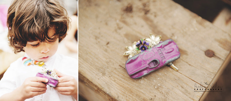 Toy Car Boutonniere