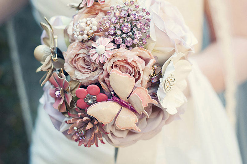 Brooch Bouquets by The Ritzy Rose Lookbooks of Real Weddings & Shoots