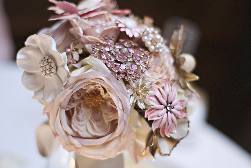 Light Pink Peony Brooch Bouquet