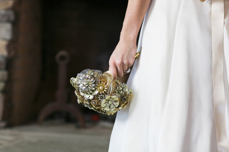 Gold Brooch Bouquet