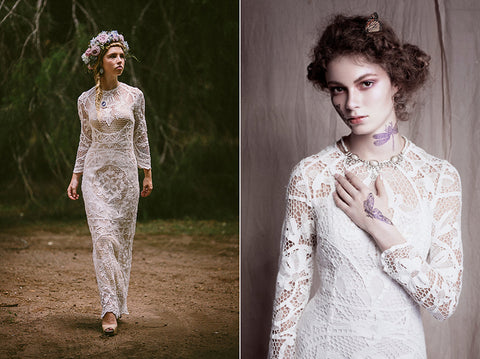 Bohemian Beauty Wedding Dress by Lost In Paris Bridal on Etsy
