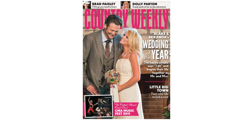 Miranda Lambert Brooch Bouquet by the Ritzy Rose in Country Weekly