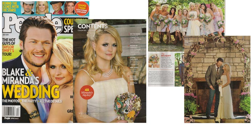 Miranda Lambert Brooch Bouquet by the Ritzy Rose in People Magazine