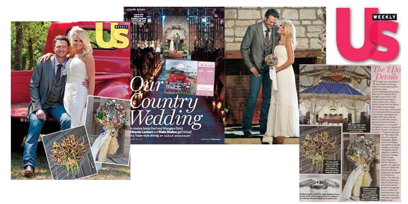 Miranda Lambert Brooch Bouquet by the Ritzy Rose in US Weekly