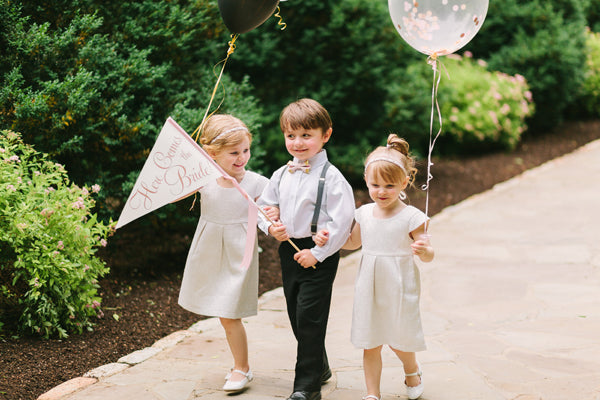 Balloon Ring Bearer Ritzy Rose Sign | Photo by Rachel Moore