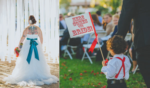 Circus Wedding Sign As Seen on RockNRollBride Photo by Regina The Photographer