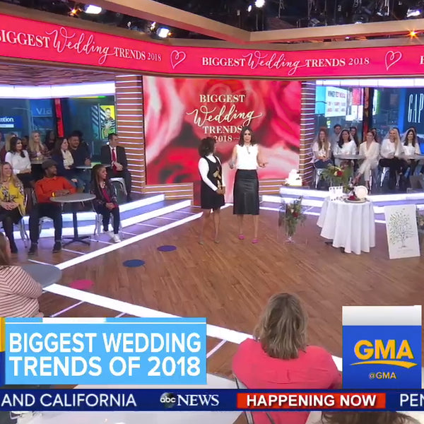 Ritzy Rose on Good Morning America Biggest Wedding Trends 2018 Etsy