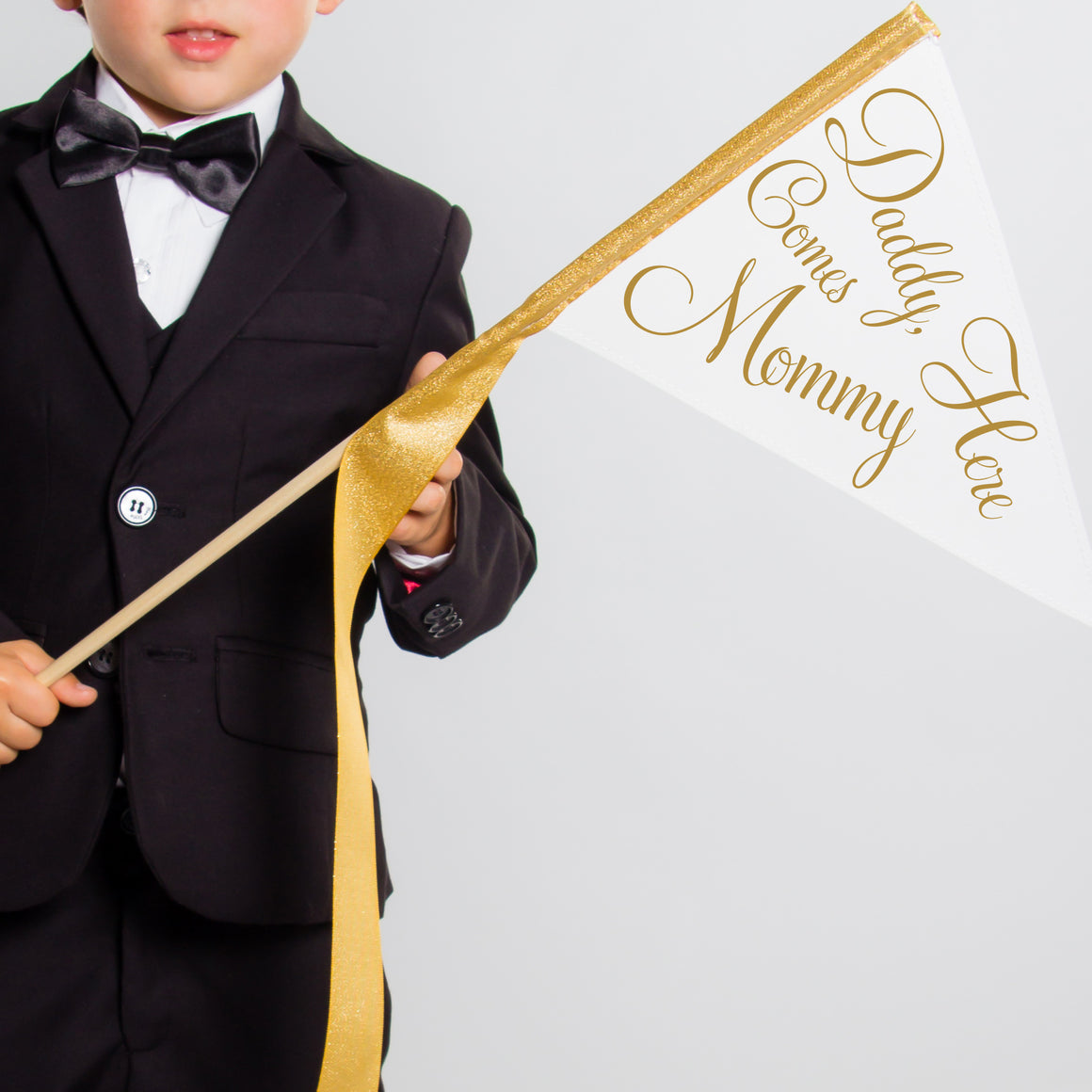 Daddy Here Comes Mommy Sign | Small Pennant Flag