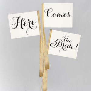 Here, Comes, The Bride | Set of 3 Signs